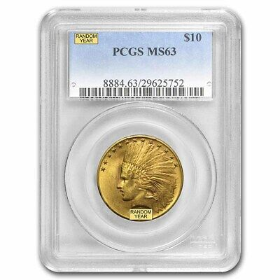 $10 Indian Gold Eagle MS-63 PCGS (Random) - SKU #12919