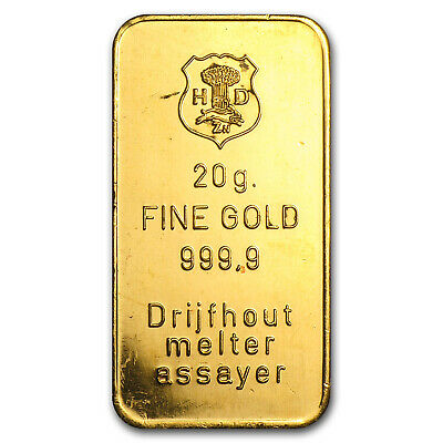 20 Gram Gold Bar Secondary Market Sku 12105