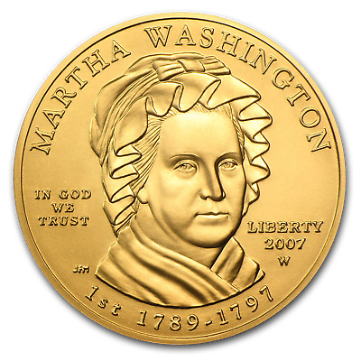 2007-W 1/2 oz Gold Dolley Madison BU (w/Box & COA) - SKU #31397