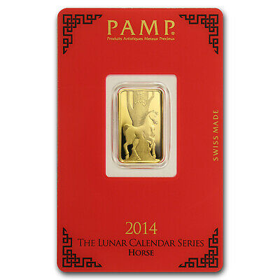 5 gram Gold Bar - PAMP Suisse Year of the Horse (In Assay) - SKU #80094