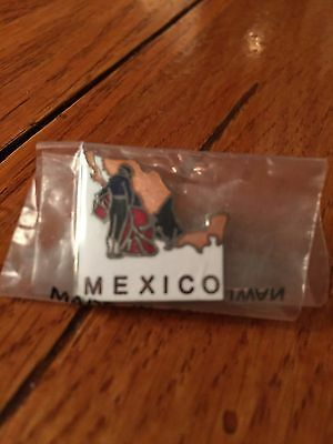 Pin - Mexico: Bull Fighter w/shape of country - NEW - Still Wrapped