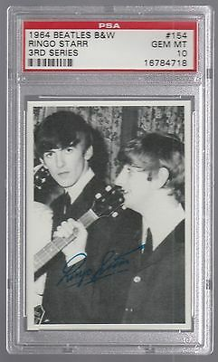 1964 The Beatles B/w Ringo Starr 3Rd Series Card #154 Psa 10 Gem Mint Centered