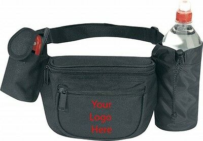 3-Zipper Fanny Pack With Bottle Holder & Cellphone Pouch Custom Logo 72 Pieces