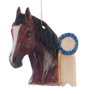 Bay Horse Christmas Ornament Personalized with Your Name and Year  (111)