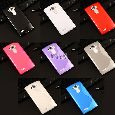 S Line Soft Rubber Gel TPU Silicone Case Skin Cover Shell For LG Mobile Phones