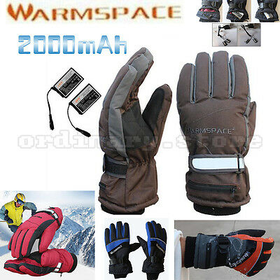 Electric Power Battery Heated Warm Winter Hands Heating Outdoor Work Ski Gloves