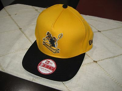 15d0e68e8 PITTSBURGH STEELERS New Era 9FIFTY Throwback SNAPBACK Cap HAT GOLD BLACK  M L NWT
