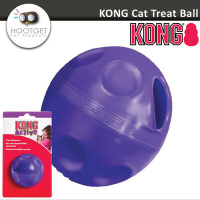 KONG Cat Active Treat Ball -Kitten Cat Dispenser Chase Healthy Exercise Play Toy