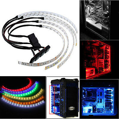 60CM(cable+light) Flexible LED Strip Light For PC Computer Waterproof red