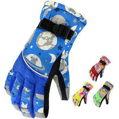 Womens Ladies Waterproof  Winter Thermal Snowboard Ski Skiing Snow Gloves Medium