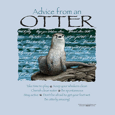 Advice From A Otter Large Adult T-Shirt