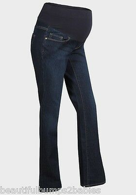 Oh Baby Maternity Mid Bump Support Bootcut Jeans Size 8 10 12 14 16 18 20 22 New