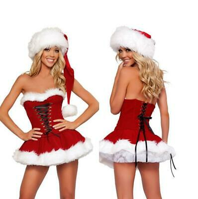 Sexy Santa Womens Ladies Miss Claus Fancy Dress Costume Christmas Party (363)