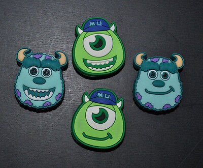 4pc Monsters Inc Jibbitz Charms USA Seller