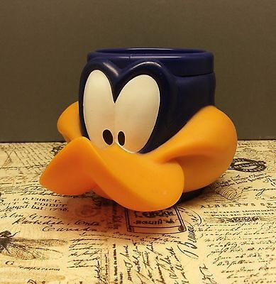Daffy Duck vintage collectors cup c.1992 red rooster plastic head