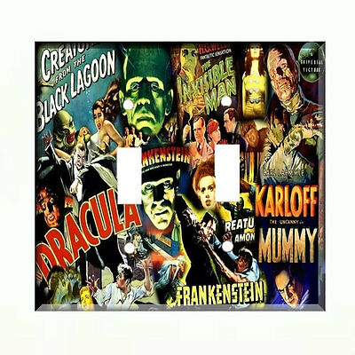 Dracula Light Switch Plate Wall Cover Horror Movie Creature Mummy Karloff