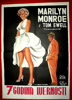 The Seven 7 Year Itch 1955 Marilyn Monroe Billy Wilder Unique Exyu Movie Poster
