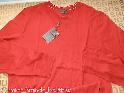 6acae2cf New Hugo Boss Mens Red Knitwear Pro Golf Selection Sweater Cardigan Jumper  Large