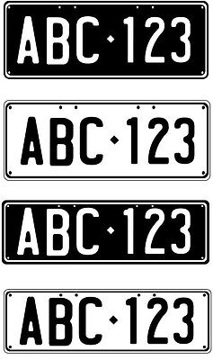 Trailer Duplicate Number Plate - Perfect For Trailer Or Bike Rack Golf Cart Etc