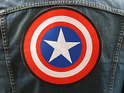 GRAND ECUSSON PATCH aufnaher THERMOCOLLANT/ BOUCLIER CAPITAIN AMERICA marvel