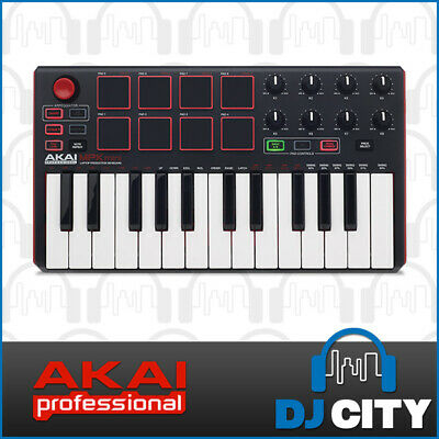 MPK Mini 2 AKAI Portable USB Midi Controler with MPC pads Software Control MP...