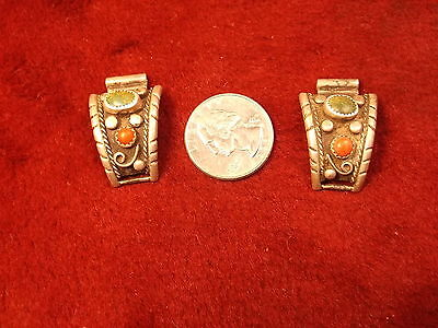 Nice Pair Of Old Vtg Antique? Southwestern Sterling Silver Men's Watch Cuffs