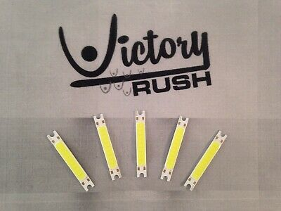 5x White Flat COB Strip 3W High Power LED Lamp Light DC 9-12V USA