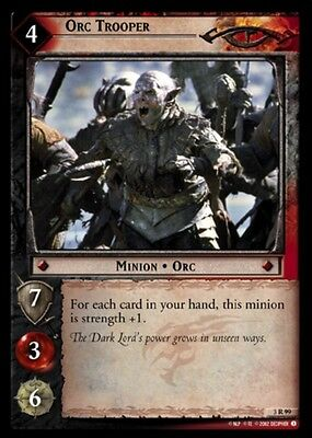 LORD OF THE RINGS TCG - 3R 99 Orc Trooper - Decipher Tcg Lotr - Mint