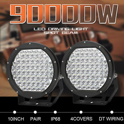 10inch 1428w HID Round Black Cree Led Driving Spot Work Light Offroad 4x4 Truck