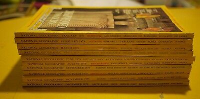 1979 National Geographic Magazines 10 ISSUES **MISS MAY&JULY* (INCLUDES (1) MAP)