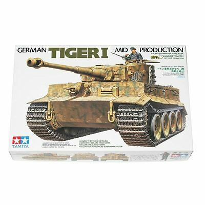 Tamiya German Tiger I Mid Production Plastic Model Making Kit Tank 1:35 Scale