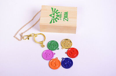 ZELDA Ocarina of Time Medallions Gift Necklace Pendant Keychain Collection+Box