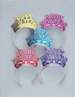 New Year Tiara in Mixed Colours Pack of 2 on Silver Band