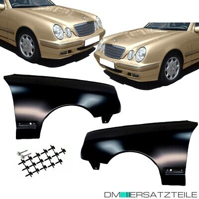 Mercedes W210 S210 Kotflügel Fender Set Links Rechts 99-03 Mopf+MONTAGEKIT SET