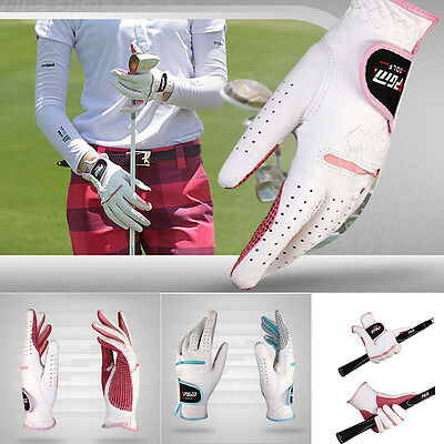 1 Pair Women's Cabretta Leather Non-slip All Weather Breathable Golf Gloves New