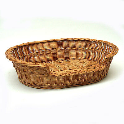Medium L Wicker Dog Bed Basket FREE DELIVERY
