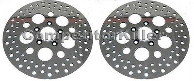 """Harley Brake Rotors 11.5"""" Stainless Steel Polished Two New (1 Front 1 Rear)"""
