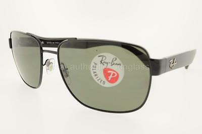 99892b4bd5 RAY-BAN SUNGLASSES Rb3530 002 9A Black Frame green Polarized Classic Lens  58Mm