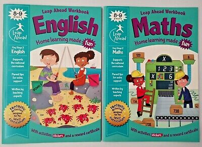 Leap ahead Maths and English KS2  Ages 8-9 New!!!!