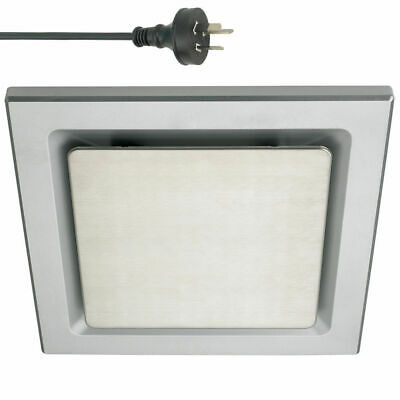 Silver 20cm Square Ceiling Ducted Exhaust Fan/Air flow/Bathroom/Kitchen/Laundry
