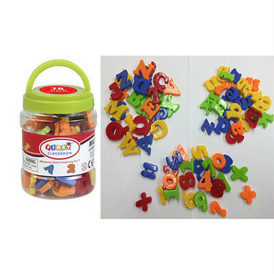 Lot of 78 Educational Magnetic Letters and Numbers Symbols Learning Toy Fridge