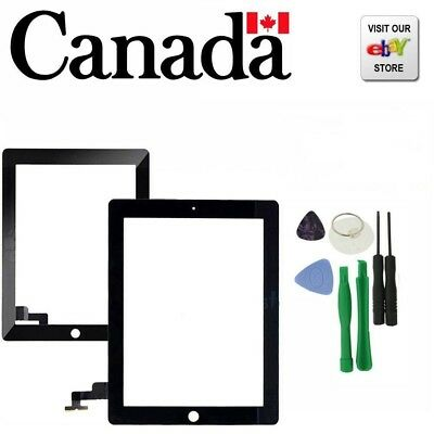New Black Replacement Touch Screen Glass Digitizer For iPad 2+Tools