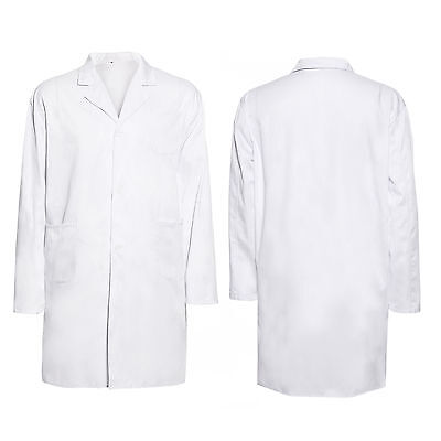 Men Women Lab Coat Medical Doctor Scientist Healthcare Dress Up Uniform Costume