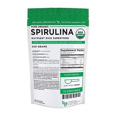 Spirulina USDA Powder 250g (8.8oz) -Organic Fat Burner-Weight Loss -Energy -NGP