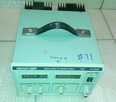 Circuit-Test (0-30V DC @5A) PS-5030D Regulated DC Power Supply