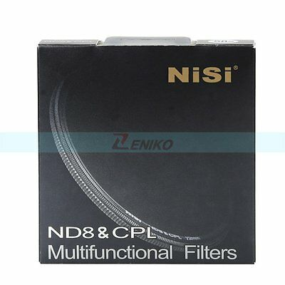 77mm Nisi Ultra Thin ND8 & CPL 2in1 Multi-function AGC Optical Glass Lens Filter