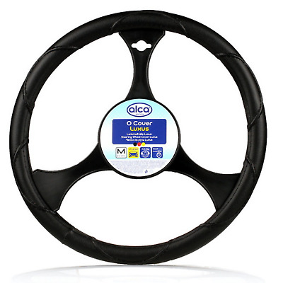 Large steering wheel cover 41-43cm for TRUCK VAN MOTORHOME leatherlook black XL