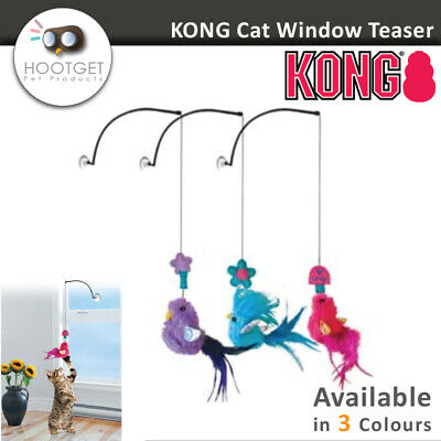 KONG Active Cat Window Teaser - Pet Kitten Cat Crinkle sound Catnip Play Toy AUS