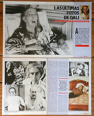 SALVADOR DALI 6 page 1987 magazine article photos clippings