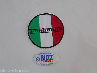 Iron or Sew On Lambretta Made In Italy Patch Embroidered